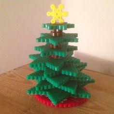 3D Christmas tree perler beads by biran21