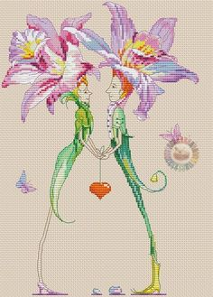 Zz Fantasy Cross Stitch, Cross Stitch Fairy, Cross Stitch Angels, Cross Stitch Love, Cross Stitch Designs, Cross Stitch Patterns, Hobbies And Crafts, Crafts To Make, Elves And Fairies