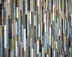 Wall Art Wood Sculpture Queen Headboard or Wall Art Lines