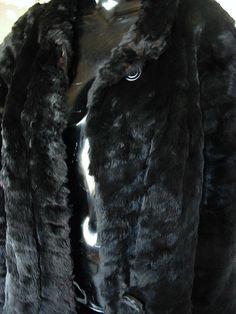 Vintage 1940's woman's black Seal  winter fur coat by bonitalouise