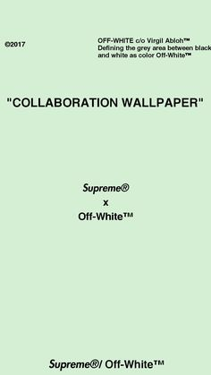 Supreme X Off White Collaboration Wallpaper Virgil AblohTM SupremeR