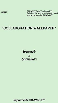 Supreme x Off-White collaboration wallpaper Virgil Abloh™/ Supreme®