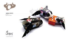 WING SHOES (paper toy)  + bonus (1000 space shuttle) by 1000DAY , via Behance