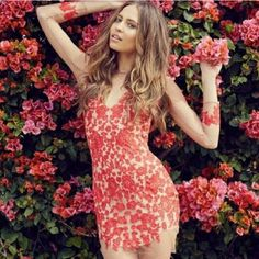 "SALE! For love & lemons Luau dress Red For love and lemons, ""Luau"" dress in red and nude. NEW with tags. Not interested in trading ANYTHING other than the same dress in blue, size small or medium. For Love and Lemons Dresses"