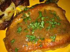 Smothered Pork Chops...Looks yummy!