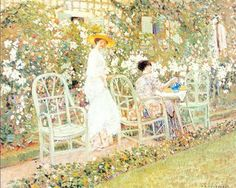 Ladies in the Garden by Frederick Frieseke Figure Painting 7a7f8789d850c