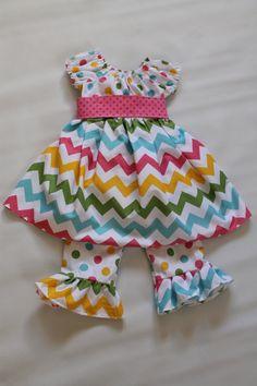 Chevron Easter Dress and Ruffle Pants. $44.99, via Etsy.