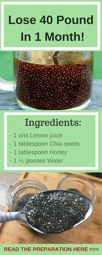 Chia Seed Drink - Ingredients: 1 unit Lemon juice 1 tablespoon Chia seeds 1 tablespoon Honey 1 ½ glasses Water How to prepare it: – soak the seeds of chia for 1 hour until they absorb the water -mix and blend all the ingredients #body #health #weightloss