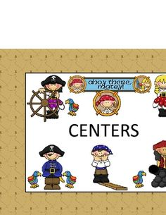 PIRATE CLASSROOM CENTER LABELS{$5}
