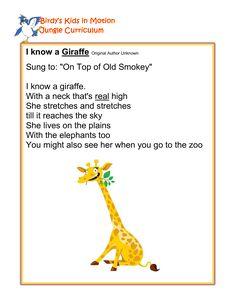 I Know a Giraffe - Song #BirdysKids #ToddlerCreativeMovement