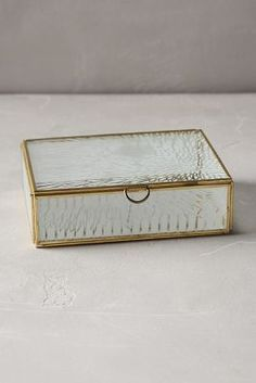 Frosted Glass Jewellery Box (Anthropologie)