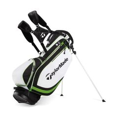 TaylorMade Stratus Stand Bag, White/Black/Slime. Details at http://youzones.com/taylormade-stratus-stand-bag-whiteblackslime/