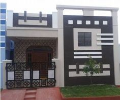 House Front Wall Design, Single Floor House Design, House Outside Design, Exterior Wall Design, Village House Design, Small House Design, Facade Design, Modern House Design, House Floor