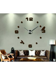 Clock on the wall - MARIA Reference:  12S006-RAL8011-S-COLOR* Condition:  New product  Availability:  In Stock  Choose a color by yourself! The time has come much more cozy realít new clock. 3D large wall clock is a beautiful decoration of your interior. You'll never be late.