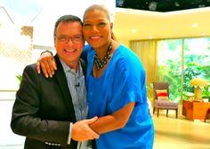 Chris McGinnis and Queen Latifah on the Queen Latifah Show set in Los Angeles @lassenbus