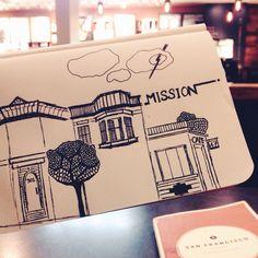 #sanfrancisco #sketch #mission #architecture #art #california