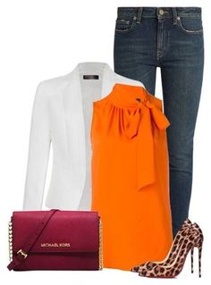"""Untitled #574"" by oxigenio ❤ liked on Polyvore featuring Yves Saint Laurent, Ally Fashion, Moschino, Michael Kors and Christian Louboutin"