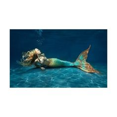 Mertailor.com Realistic Mermaid Tail Costumes For Swimming found on Polyvore featuring polyvore, women's fashion, clothing, mermaids and people