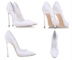 75.00$  Watch now - http://alirp6.worldwells.pw/go.php?t=32790603340 - Elegant White Lace High Heels 12CM Metal Heel Design Sexy Pumps Pointed Toe Stiletto Heels Woman Wedding Shoes Summer S 75.00$