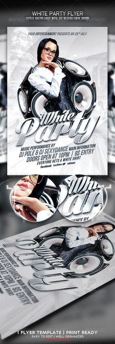 White Party Flyer #3d #affair Download : https://graphicriver.net/item/white-party-flyer/4790552?ref=pxcr