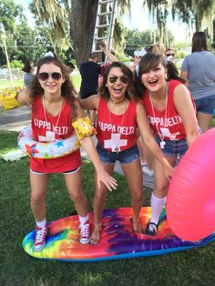 Kappa Delta Bid Day - Lifeguard theme