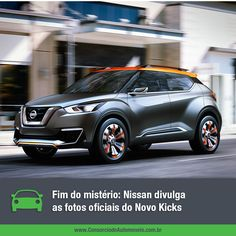 Depois de aparecer apenas em formato conceitual, o novo Nissan Kicks finalmente veio à tona. Veja algumas fotos do modelo em nossa galeria e comece a planejar a compra do seu: faça um consórcio! https://www.consorciodeautomoveis.com.br/noticias/confira-as-fotos-oficiais-do-nissan-kicks?idcampanha=206&utm_source=Pinterest&utm_medium=Perfil&utm_campaign=redessociais