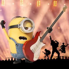 Minions - Tell us who YOU would put in Stuart's dream band. Minion Rock, Minion 2, Cute Minions, Minion Movie, Minions Despicable Me, Minion Stuff, Funny Minion, Amor Minions, Minions Quotes