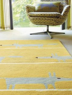 A brightly coloured rug adds interest and warmth to a room Carpet Flooring, Rugs On Carpet, Carpets, Student Room, Colorful Rugs, John Lewis, Uni, Home And Garden, Room Decor