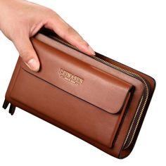 Homme Business Clutch Sac à Main en Cuir PU Imperméable à l'Eau Sac Portefeuille pour Smartphone - Banggood Mobile