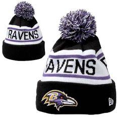 4b948cdc0 Mens   Womens Baltimore Ravens New Era NFL Biggest Fan Redux Cuffed Knit  Pom Pom Beanie Hat - Black   White