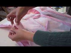 Vestido de Xv años con crin y encaje de realce. 6.forrar hombros-escote-sisas - YouTube