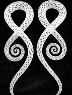 White Fishnet Squid - Glass Heart Studios