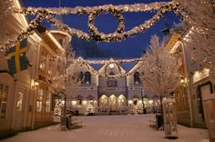 Sweden and Norway are always beautiful but especially in the winter. I love this photo - just seems like a magical time......I have to get back to Norway soon! Liseberg Amusement Park in Gothenburg ~ Sweden