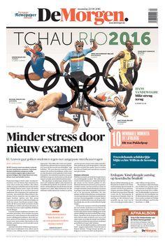 DE MORGEN (Belgium) 8/22/16 via Newseum                                                                                                                                                     More