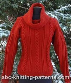 Mistletoe Cable Cowl Sweater   AllFreeKnitting.com