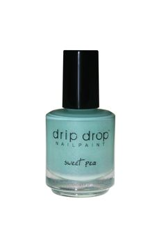 'sweet pea' is a mint green crelly with turquoise flakies and gold shimmer.  It is one of the five-polish golden oldies collection.  Opaque in 2 coats.  Available in full size (15ml) Limited supply. This is a 3-free handmade nail lacquer  Swatch: 'sweet pea' by @candiedapplepolish