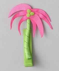 Cute palm tree hair bow