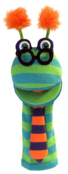 PuppetU.com - Sock Monster Dylan Knitted Puppet 15 inch, $18.50 (http://store.puppetu.com/sockettes-dylan-sock-monster-puppet-15-inch/)