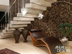 Escadas diferentes e modernas - veja modelos lindos e sofisticados! Zen, Stainless Steel Staircase, Modern Stairs, Modern Glass, Textures Patterns, My House, Sweet Home, House Design, Living Room