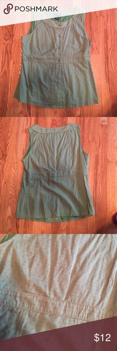 Green Cotton Sleeveless Top Kelly green, size 14, Ann Taylor factory store, 100% cotton Ann Taylor Tops Blouses