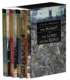 The Hobbit and The Lord of the Rings trilogy are fantastic novels about the journey of the One Ring, and the Hobbits' quest to return it to its place of creation. Great stories and great imagery, a wonderful fantasy tale.