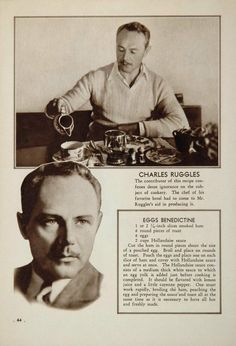 Charles Ruggles - Eggs Benedictine recipe