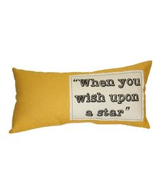 Take a look at this Yellow Pillow by Mon Château on #zulily today!