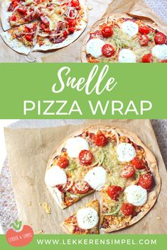 Fast pizza wrap - Tasty and Simple - Quick wrap pizza. Wraps recipes come in all shapes and sizes. You can invest this fast pizza wraps - Falafel Wrap, Quick Recipes, Healthy Recipes, Healthy Food, Meat Recipes, Healthy Eating, Mozzarella, Pizza Wraps, Pizza Pizza