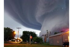 Tornado funnel cloud touches down in Orchard, Iowa, on June 10, at 9:04pm - c/o The Telegraph
