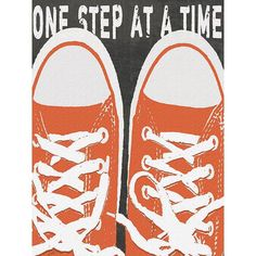 One Step At A Time by Artist Lisa Weedn Wood Sign