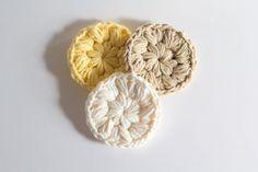 Cotton Face Scrubbies  set of 3  crochet face por ShadyCreekFarmNC