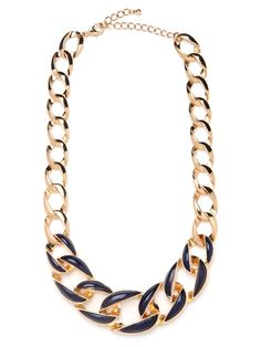 New in today... our navy link collar!