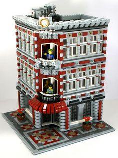 July 2010 A Modular Life - great patterned sidewalks Lego Modular, Legos, Casa Lego, Amazing Lego Creations, Lego Boards, Lego Moc, Lego Lego, Lego Creator, Custom Lego