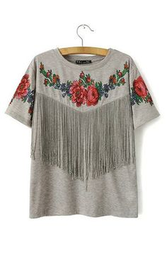 Specifications: Decoration: Tassel Clothing Length: Regular Sleeve Style: RegularPattern Type: Floral Fabric Type: Knitted Material: Cotton,Polyester Collar: O-Neck Color Style: Natural Color Sleeve L